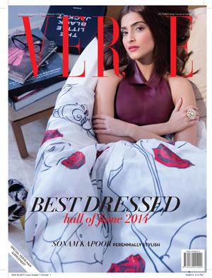 Sonam Kapoor for Verve's Best Dressed Issue 2014