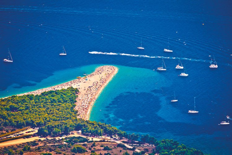 The luscious sprawl of the Golden Horn beach at Bol on the island of Brac