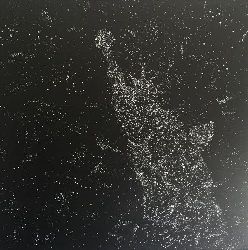 Raul Castro Camacho's (Memo) untitled work representing America as his fantasy cosmos