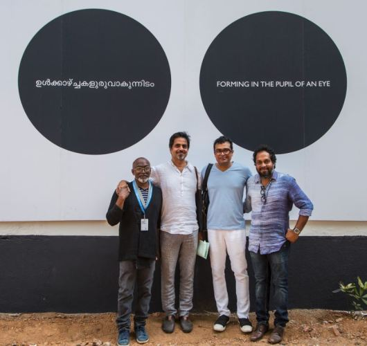 From L to R: Bose Krishnamachari, Sudarshan Shetty, Jitish Kallat and Riyas Komu