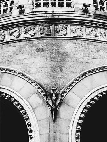 An arch at Chhatrapati Shivaji Terminus