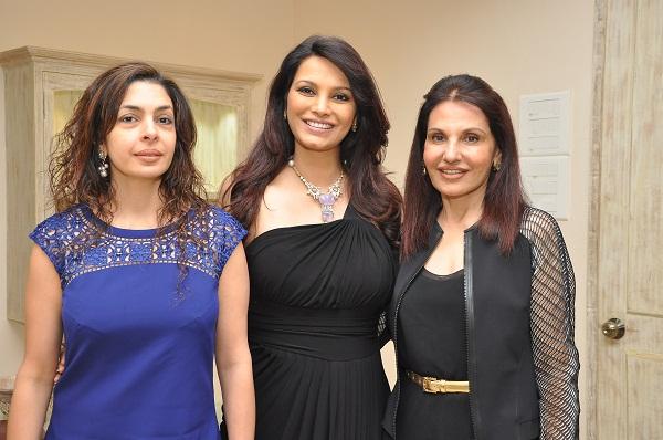 Nawaz Modi Singhania, Diana Hayden, Poonam Soni at Poonam Soni's Collection Launch