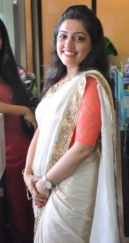 Nisha Bhatia in a sari from her wedding trousseau