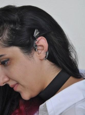 Sadaf's choker and dragon earcuff