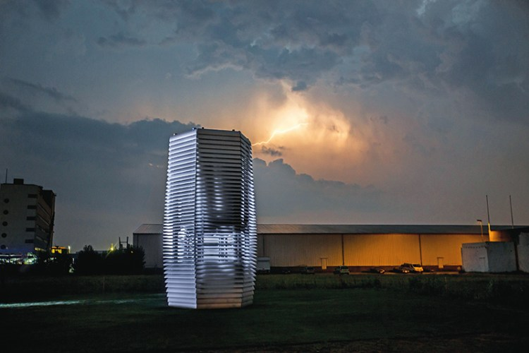 The Smog Free Tower at Rotterdam, Netherlands