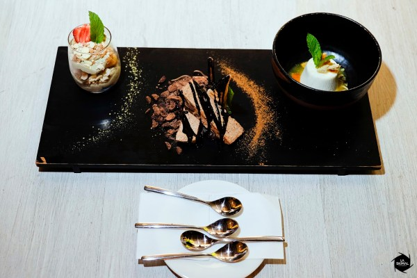 Dark chocolate semifreddo