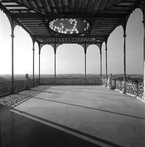 Belvedere, rear end of the Falaknuma Palace, Hyderabad, 1976, Silver gelatin print