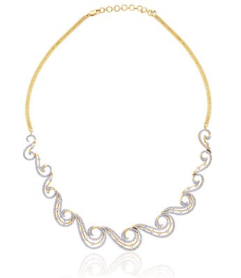 Diamond necklace, in 18-carat gold