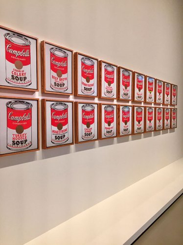 Campbell's Soup Cans painting by Andy Warhol