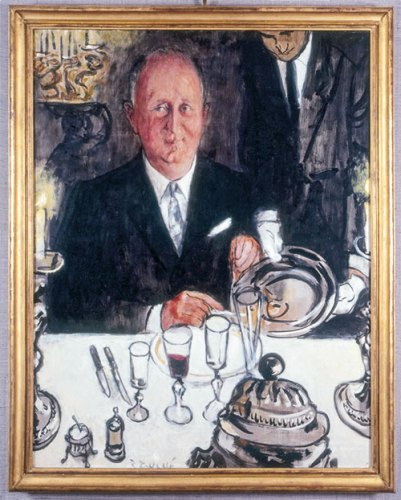 Portrait of Christian Dior by Dubuffet
