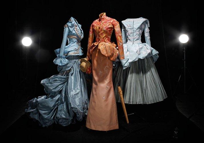 Dresses inspired by Renoir, Seurat, Manet (2007)