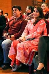 Dr Shriram Nene and Madhuri Dixit at INK 2014