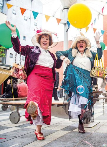 Locals Enjoying Bloomsday
