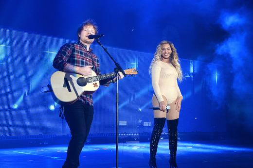 Ed Sheeran and Beyonce Knowles