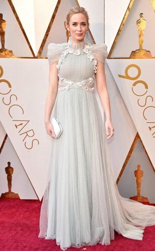 Emily Blunt in Schiaparelli Haute Couture with Chopard jewellery
