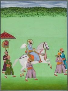 Equestrian portrait of Maharana Fateh Singh in procession, Udaipur