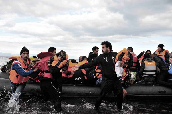 Essam Daod in the middle of a Humanity Crew refugee rescue.