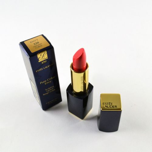 Estee Lauder's Pure Color Envy Sculpting Lipstick in Defiant Coral