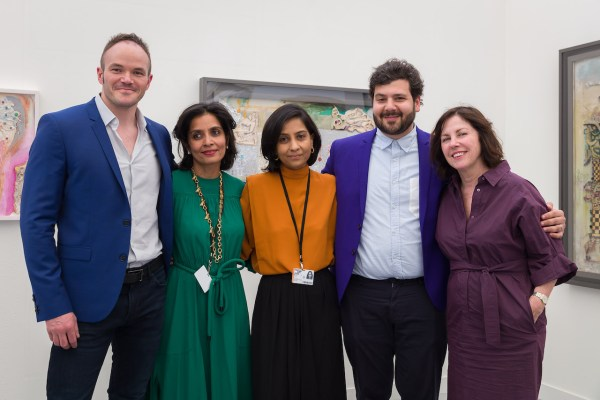 Christopher Bedford (director of the Baltimore Museum of Art), Amrita Jhaveri, Amrita and Priya Jhaveri (Co-founders at Mumbai's Jhaveri Contemporary), Omar Kholeif (senior curator and director of global initiatives at the Museum of Contemporary Art Chicago) and Suzanne Cotter (director of the Madam Luxembourg Musée d'Art Moderne Grand-Duc Jean)