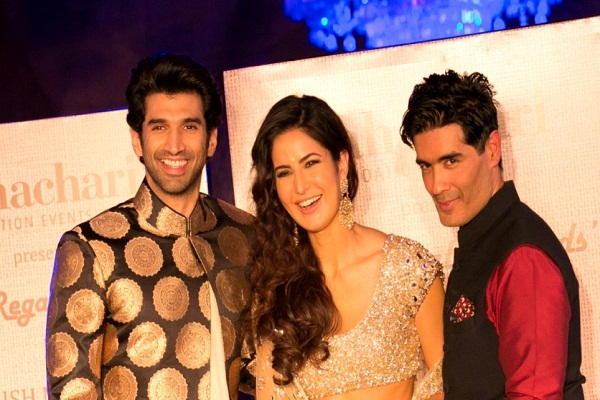 Aditya Roy Kapoor, Katrina Kaif, Manish Malhotra at the Regal Threads event in Mumbai