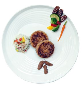 Jackfruit And Pork Cutlets With Bacon And Pecan Nut Fried Rice