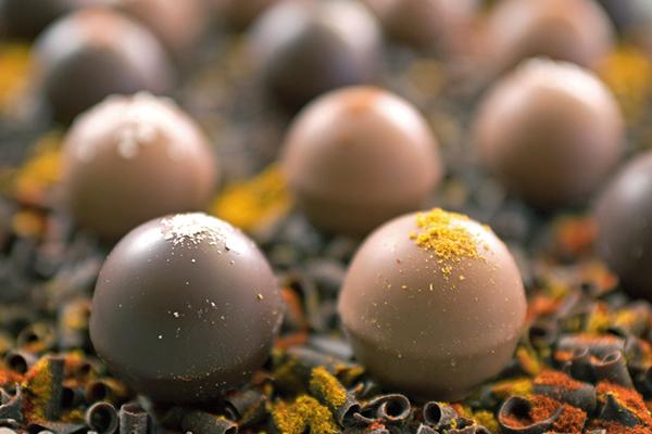 Ginger chocolate truffle, Food