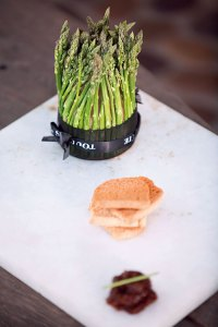 Duck, asparagus and pistachio terrine
