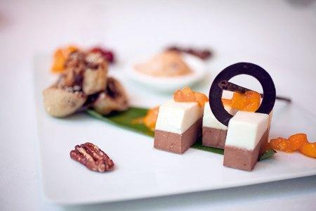 Jackfruit Halwa And Pecan Nut Ice Cream With Banana And Chocolate Jalebi With Mango Muesli Cheesecake