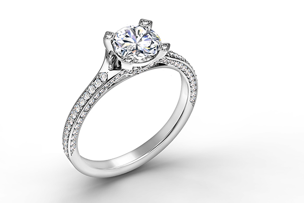 Diamond-studded ring from Forevermark.