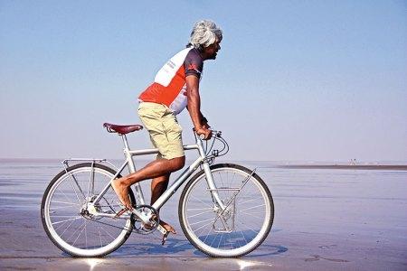 Former Medicine Sans Frontieres president Dr Unni Krishnan Karunakara on his cycling trip across India