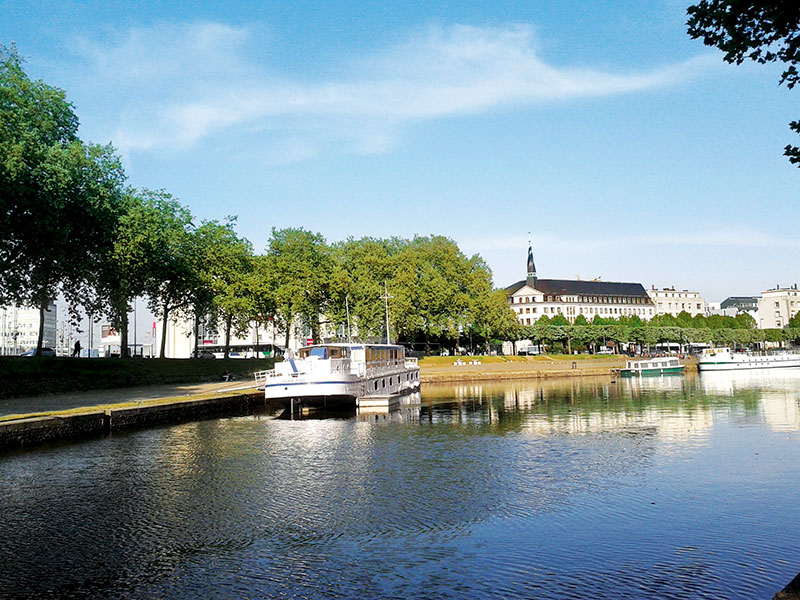 France, Nantes by the river