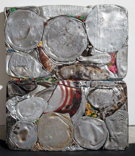 Subodh Gupta, Orion, 2016, Aluminium, fabric, resin; 21.6 x 25.6 x 3.5 in