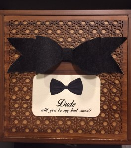 'Dude, will you be my best man' box