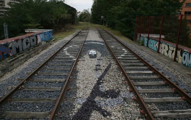 Graffiti on the tracks of Petite Ceinture