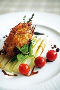 Gratinated Asparagus Tips and Macco
