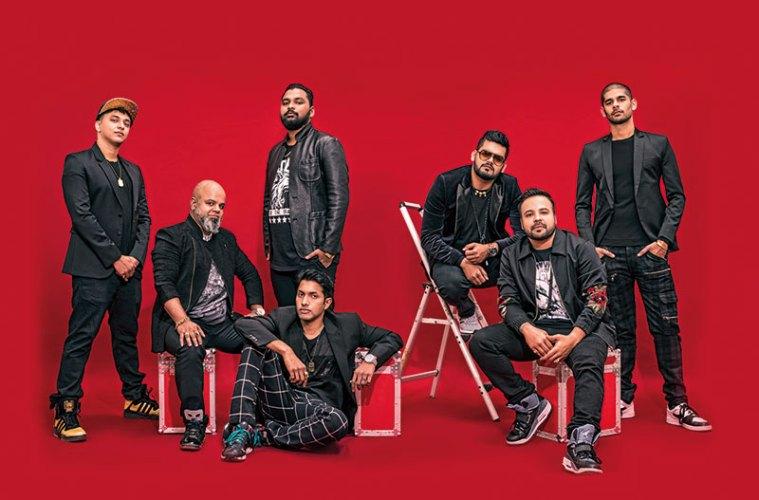Left to right: DJ Kan-i, Major C, DJ Proof, DJ Kave, Spindoctor, DJ Sa, Enkore