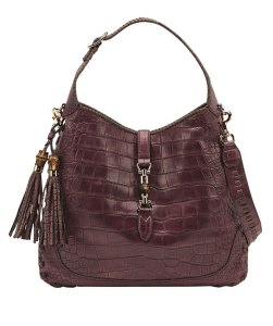 Made to Order New Jackie Bag in Eggplant Crocodile Leather