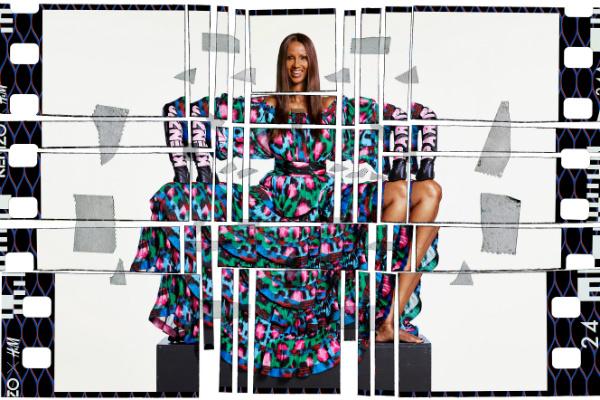 Keno x H&M campaign image starring Iman