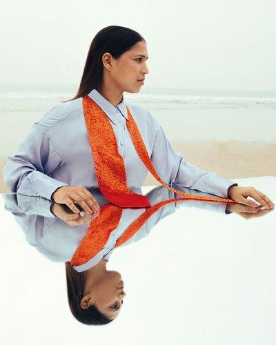 Shirt, from Zara; handloom tie, from Dark Matter.