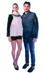 Harjosh Singh Goraya with his couture creation