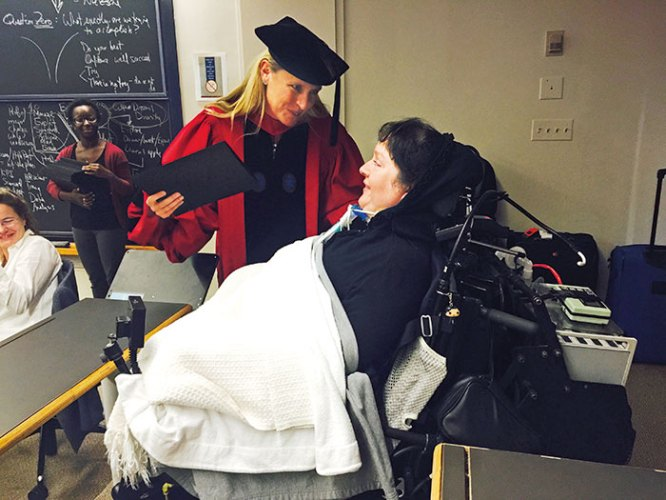 Harvard professor Iris Bohnet with Brooke Ellison
