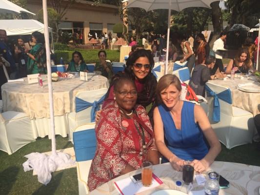 Verve's Falguni Kapadia with Dr Obiageli Ezekwesili and Samantha Power