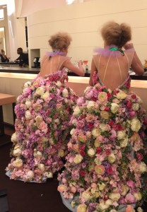 Backless gowns on the Richard Mille models