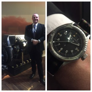 IWC historian Dr David Seyffer with his vintage watch