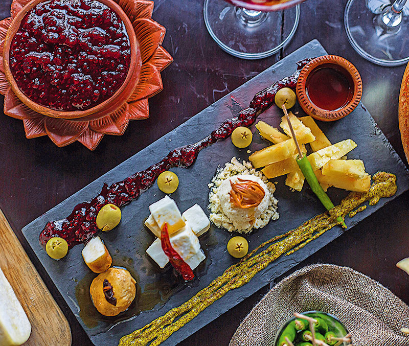 The indigenous cheese platter served at Lavaash by Saby