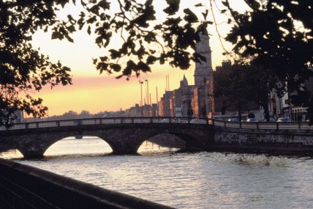 The River Liffey at sunset