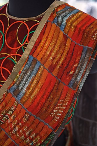 JJ Valaya's special textile sculpture for the Remembering Partition exhibit