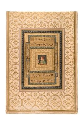 Jahangir holding a portrait of Virgin Mary