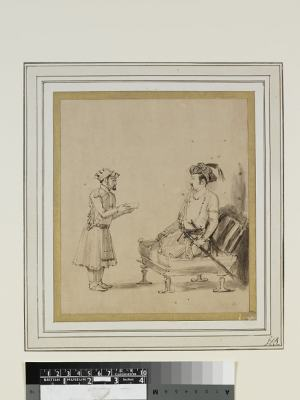 Jahangir receiving an officer by Rembrandt