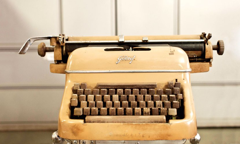 The Godrej typewriter was the first-ever manual typewriter made in Asia